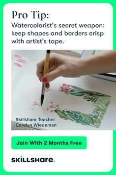 Skillshare is a learning community for the creator in all of us. Get inspired, join a class, and create something you'll love. Watercolor Tips, Watercolor Techniques, Painting Techniques, Watercolor Paintings, Watercolours, Watercolor Flowers, Online Painting, Painting Tips, Painting & Drawing