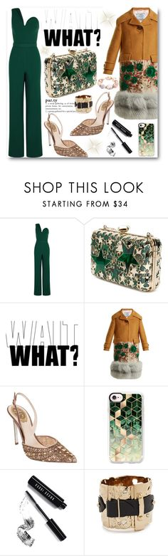 """Party Girl"" by stylish-sparkles ❤ liked on Polyvore featuring Brandon Maxwell, Elie Saab, Prada, René Caovilla, Casetify, Bobbi Brown Cosmetics, Alexis Bittar and Jordan Alexander"