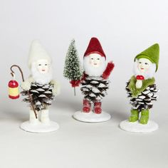 One of my favorite discoveries at WorldMarket.com: Pinecone  Gnomes,  Set of 3