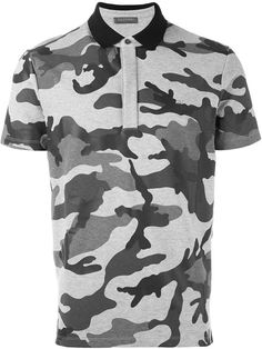 Camouflage Polo T-Shirt Mens Designer Polo Shirts, Valentino Camouflage, Valentino Men, Polo T Shirts, Fashion Wear, Black Cotton, Polo Ralph Lauren, Men Casual, Short Sleeves