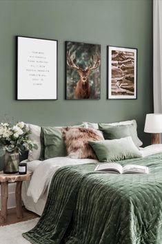 Bedroom Green, Aesthetic Room Decor, Home Decor Outlet, Beautiful Interiors, Home Decor Bedroom, Apartment Living, Furniture Design, House Design, Interior Design