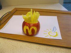 fries from apple - Apfel-Pommes, so macht gesundes Essen Spass :-)