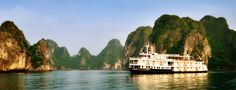 Emeraude Cruise -  2 days/ 1night.  Price from  $240 for 2 pax.  Depature: Daily. Highlights: Vong Vieng Village, Sung Sot Cave,… #Emeraude_Cruise