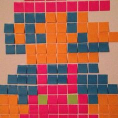 Post it Mario :-) Post It Art, Paint Chips, Mario, Contemporary, Rugs, Painting, Home Decor, Farmhouse Rugs, Decoration Home