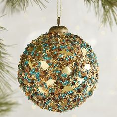 Sequined Ball Ornament   Pier 1 Imports
