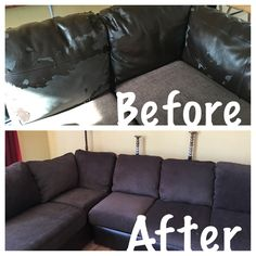 How to reupholster attached couch cushions: It's been a very long time  since I'