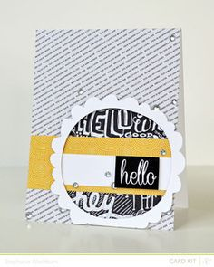 hello *card kit only!* by StephWashburn at Studio Calico