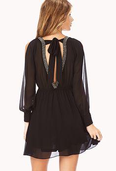 Beaded V-Back Dress | FOREVER 21 - 2000073016