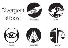 Divergent Tattoo by LonePineDecals on Etsy, $4.75
