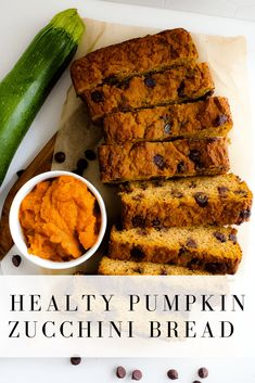 What do you make when you're craving pumpkin bread in the summer? It's easy to make, grain free, and packs extra vitamins, minerals and fiber from the pumpkin puree and zucchini! Zuchinni Pumpkin Bread, Zucchini Quinoa, Zucchini Bread Recipes, Gluten Free Zucchini Bread, Keto Bread, Pumpkin Nutrition, Healthy Pumpkin, Vegan Pumpkin, Gluten Free Pumpkin Bread