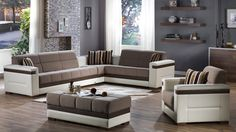 Moon Platin Mustard Sectional Sofa By Istikbal Furniture