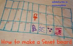 how to make a senet board for Ancient Egypt activity