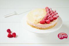 Yoghurttaart met frambozen en witte chocolade (no bake)