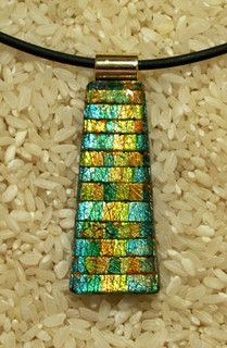 Elsie Smith - Faux Dichroic Polymer Clay Pendant by Sweet2Spicy, via Flickr