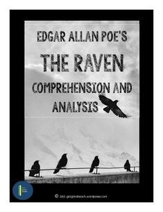 """A complete lesson plan with student materials for comprehending Edgar Allan Poe's """"The Raven. Teaching Tools, Teaching Resources, Teaching Literature, English Literature, Teaching Ideas, School's Out Forever, The Tell Tale Heart, Teaching Language Arts, Teaching English"""