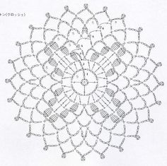 clippedonissuu from motif edging Crochet Circles, Crochet Doily Patterns, Crochet Mandala, Crochet Diagram, Crochet Granny, Filet Crochet, Crochet Doilies, Crochet Stitches, Knit Crochet