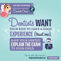 Keep kids calm in the dentist chair by making sure they've had a good night sleep or nap before! Oral Health, Dental Health, Health Tips, Happy Mom, Happy Kids, Dental Hygiene, Dental Care, Dentistry For Kids, Dental Facts