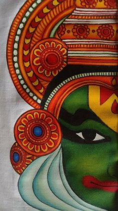 Ideas painting abstract diy design for can find indian paintings and more on our Ideas painting abstract diy design for 2019 Kerala Mural Painting, Indian Art Paintings, Mysore Painting, Madhubani Art, Madhubani Painting, Rangoli Painting, Arte Tribal, Tribal Art, Fabric Painting