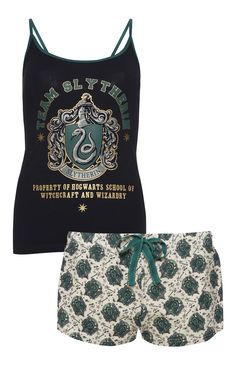 Primark - Harry Potter Slytherin Cami PJ Set