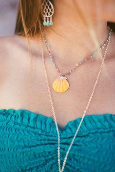 Braided Sunrise Shell Necklace