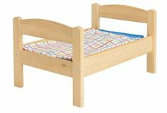 She wants a doll bed I'm sure. maybe she could paint it when she is older too! DUKTIG Doll bed with bedlinen set - IKEA Cama Ikea, Ikea Doll Bed, Doll Beds, Ikea Duktig, Baby Doll Bed, Pine Beds, Pillow Mattress, Bed Linen Sets, Pet Beds
