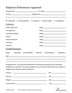 Free Printable Employee Review Form  Business Free Printable And