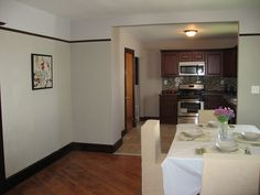 separate dining room leads to gorgeous kitchen
