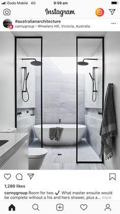Upstairs Bathrooms, Dream Bathrooms, Master Bathroom, Modern Bathrooms, Bathroom Styling, Bathroom Interior Design, Interior Design Living Room, Toilette Design, Steam Showers Bathroom