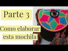 //COMO HACER MOCHILA WAYUU PASO A PASO// PARTE 3 - YouTube Tapestry Bag, Weaving, Crochet Hats, Beanie, Patterns, Crochet Pouch, How To Make Bags, Crochet Bags, Loom
