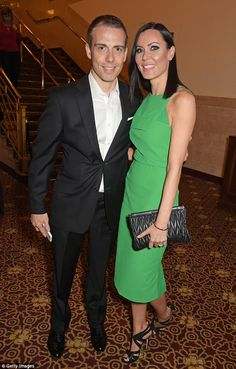Go West: Violinist Linzi Stoppard also made it a date night, stepping out with her husband...