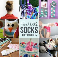 8 Fun Projects to Make With Socks~ great gift ideas too!
