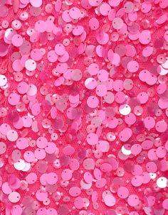 Pink sequins.