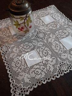 Filet Crochet, Crochet Quilt, Crochet Borders, Crochet Tablecloth, Crochet Home, Crochet Doilies, Filets, Chrochet, Crochet Clothes