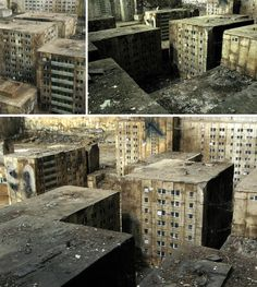 Berlin-based street artist EVOL's urban art includes entire cities created using building and window stencils on stone walls. Abandoned Cities, Story Inspiration, Ghost Towns, Street Artists, Architecture, Urban Art, Futuristic, World, Stone Walls