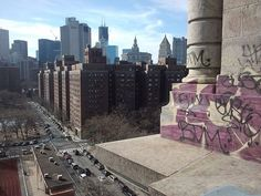 Public housing in the foreground in the Lower East Side