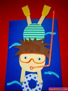 scuba diver craft for kids