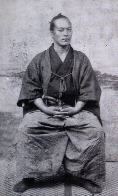 Yamaoka Tesshū , also known as Ono Tetsutarō or Yamaoka Tetsutarō, was a famous samurai of the Bakumatsu period, who played an important role in the Meiji Restoration. He is also noted as the founder of the Itto Shoden Muto-ryu school of swordsmanship.