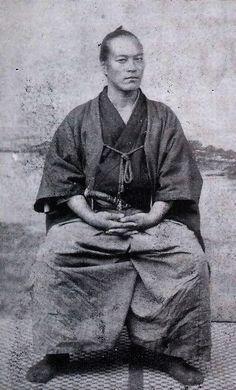 Samurai et calligraphe Zen, Maître Yamaoka Tesshū (山岡 鉄舟,  1836 – 1888) connu…