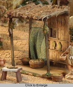 Fish Market Figurine - Fontanini 5in Scale Nativity