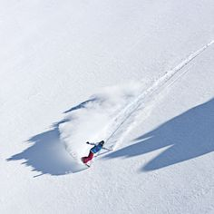 Nothing greater than untouched powder!
