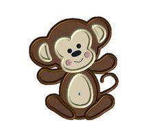 applique monkeys | Baby Boy Monkey Machine Embroidery Applique Design-INSTANT DOWNLOAD