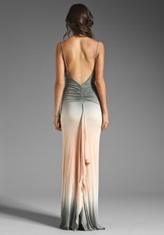 YOUNG, FABULOUS & BROKE Lavinia Maxi Dress in Grey Double Ombre