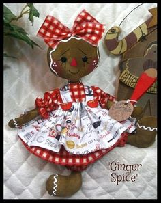 Primitive Raggedy NEW SPICE Gingerbread by GingerCreekCrossing