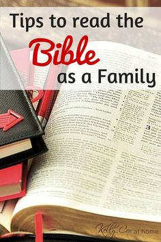 We read the whole Bible together as a family.  Check out these tips to incorporate scripture into your family's life!
