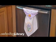 Embroidered Topsy Towel - YouTube