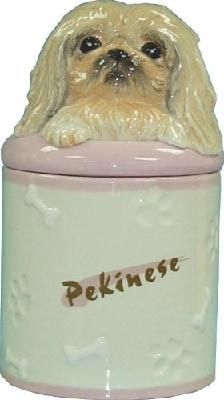 Pekingese Collectible Foo Dog Puppy Cookie Jar