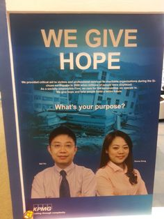 Posters at the #EnactusWorldCup in Beijing asked participants to share their purpose.