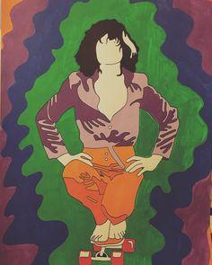 T - R E X 🌈 #drawing #illustration #colors #posca #uniposca #trex #music #70s #psychedelic #waves #skateboard #style #barefoot #shirt #ポスカ #スケートボード #fabrianopaper #art #artwork #alessiovitelli #2017