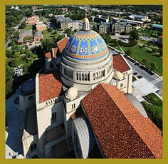 basilica of the national shrine of the immaculate conception at catholic university.  incredible place to visit.