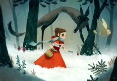 Little red riding hood Picture  (2d, illustration, red riding hood, cartoon)